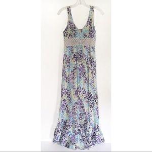 BCBGeneration maxi dress sleeveless printed purple